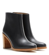 A.P.C. Chic Leather Ankle Boots Black