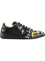 Maison Martin Margiela Paint Splatter Trainers Black