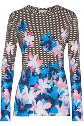 Matthew Williamson Printed Stretch Jersey Top Black