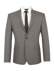 Limehaus Check Notch Collar Slim Fit Suit Jacket Grey