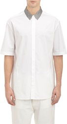 3.1 Phillip Lim Contrast Collar Shirt White Size M