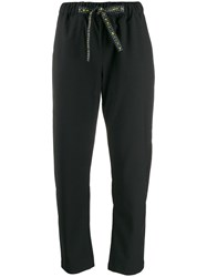 Semicouture Drawstring Tailored Trousers Black