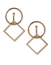 Bcbgeneration Wire Work Circle Square Drop Earrings Gold