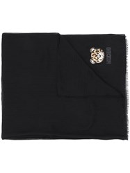 Moschino Teddy Bear Scarf Black