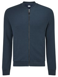 John Lewis Kin By Textured Cotton Bomber Jacket Blue