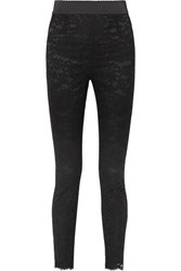 Dolce And Gabbana Guipure Lace Slim Leg Pants Black