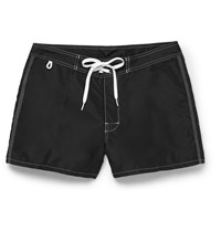 Sundek Rainbow Mid Length Swim Shorts Black
