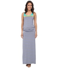 Hatley Maxi Dress Tide Stripes Women's Dress Gray