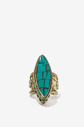 Nasty Gal From St Xavier Ellie Turquoise Ring