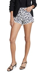 L'agence Ryland High Rise Leopard Shorts Leopard Stone