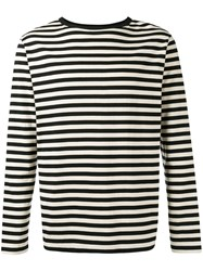 Dries Van Noten Striped Knitted Sweater Black