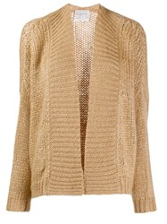 Forte Forte Knitted Long Sleeve Cardigan Neutrals