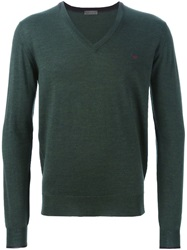 Etro V Neck Sweater Green