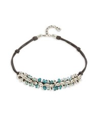 Uno De 50 Sowing Double Strands Choker Silver