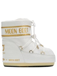 Moon Boot Croc Effect Snow Boots White