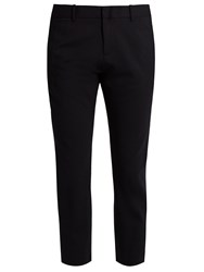 Nili Lotan Tel Aviv Stretch Wool Cropped Trousers Navy
