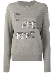 Zadig And Voltaire Life I Feel Fine Intarsia Knit Jumper Green