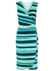 Kaliko Strap Wrap Jersey Dress Green Multi