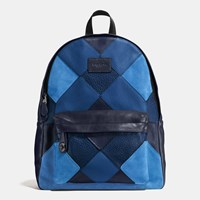 Coach Campus Backpack In Mixed Canyon Quilt Leather Qb Blue Multi
