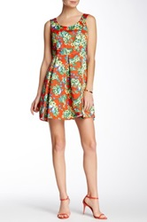 Voom By Joy Han Kacey Babydoll Dress Orange