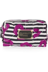Marc By Marc Jacobs Printed Satin Twill Cosmetics Case Purple