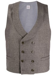 Eleventy Double Breasted Waistcoat Neutrals