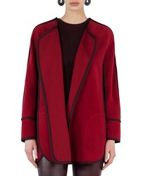 Akris Punto Wool Cashmere Cape Jacket Red