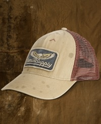 Denim And Supply Ralph Lauren Canvas Trucker Hat Washed Out Brown