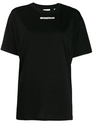 Burberry Slogan Print T Shirt Black