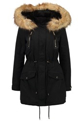 Miss Selfridge Luxe Parka Black