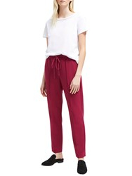 French Connection Whisper Tailored Jogger Trousers Baked Cherry