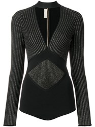 Elie Saab Thorn Bodysuit Black