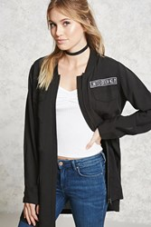 Forever 21 Contemporary Utility Jacket Black