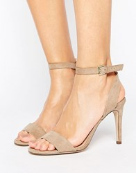 New Look Suedette Barely There Heeled Sandal Nude Beige