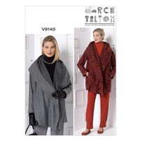 Vogue Women's Marcy Tilton Coat And Trousers Sewing Pattern 9140