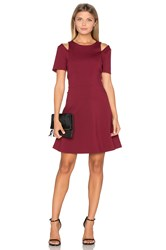 1.State Cut Out Shoulder Fit And Flare Dress Wine