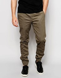 Criminal Damage Cuffed Chinos Olive Green
