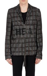 Hood By Air Men's Layered Zip Front Jacket No Color