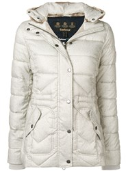 Barbour Fur Collar Padded Jacket Neutrals