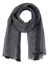 Brooks Brothers Oblong Scarves Dark Blue