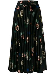 Red Valentino Floral Print Pleated Skirt 60