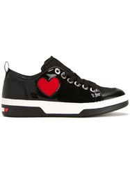Love Moschino Heart Motif Sneakers Black