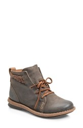 Born B Rn Temple Bootie Taupe Distressed Leather