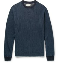 Oliver Spencer Helder Cotton Jacquard Sweater Blue