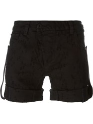 11 By Boris Bidjan Saberi Distressed Denim Shorts Black