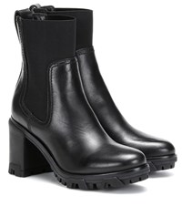 Rag And Bone Shiloh Leather Ankle Boots Black