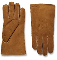 Hestra Shearling Gloves Tan