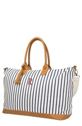 Cathy's Concepts Monogram Oversized Tote Blue Blue R