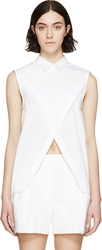 Dion Lee White Cross Over Trace Shirt