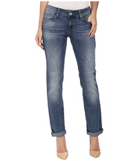 Mavi Jeans Emma Slim Boyfriend In Distressed Nolita Distressed Nolita Women's Jeans Blue